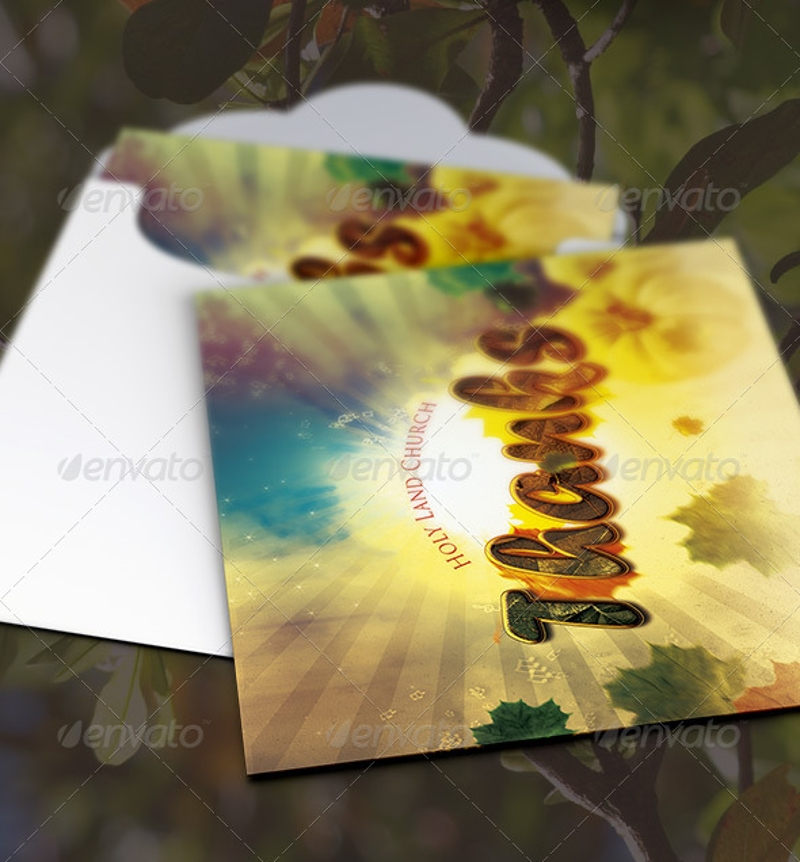 Floral Thank You Greeting Card