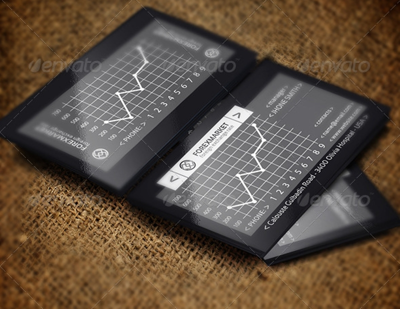 forex marketing business card