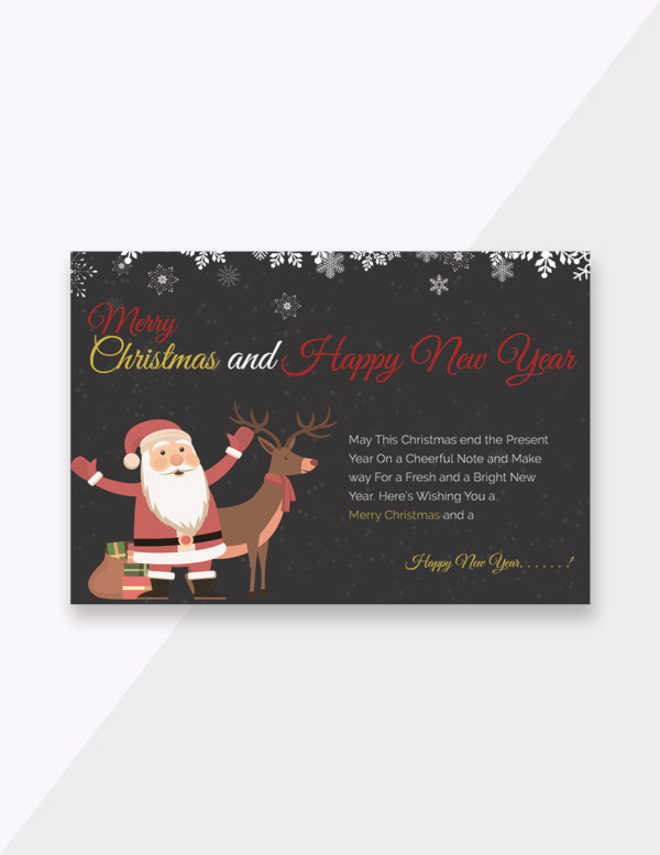 free chalkboard christmas greeting card template
