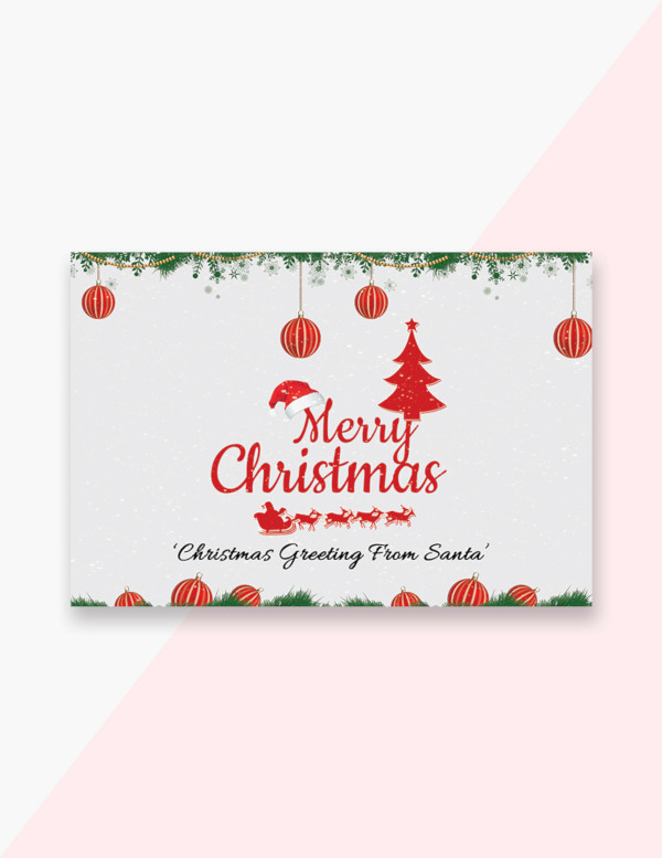 free creative christmas greeting card template