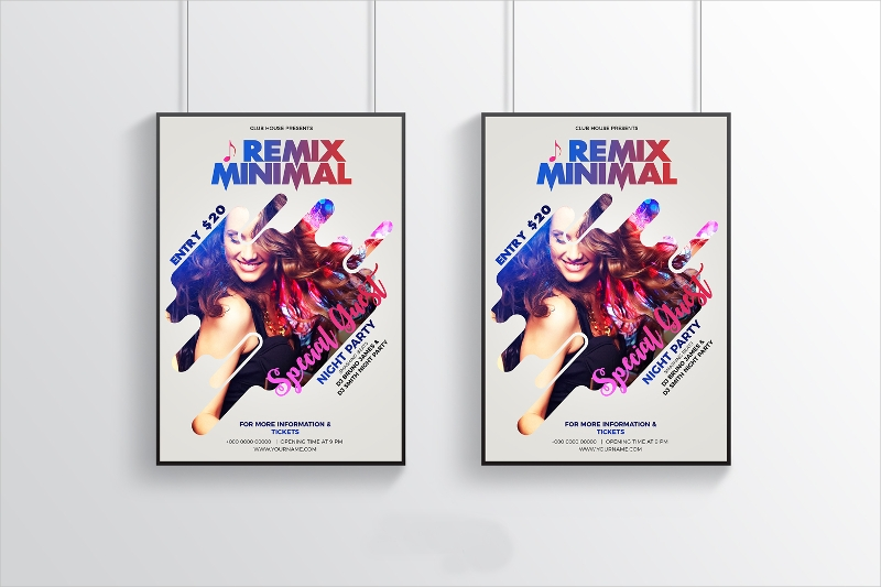 free minimal modern party flyer