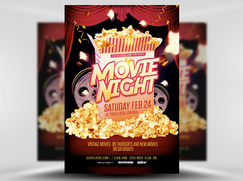 free movie night flyer