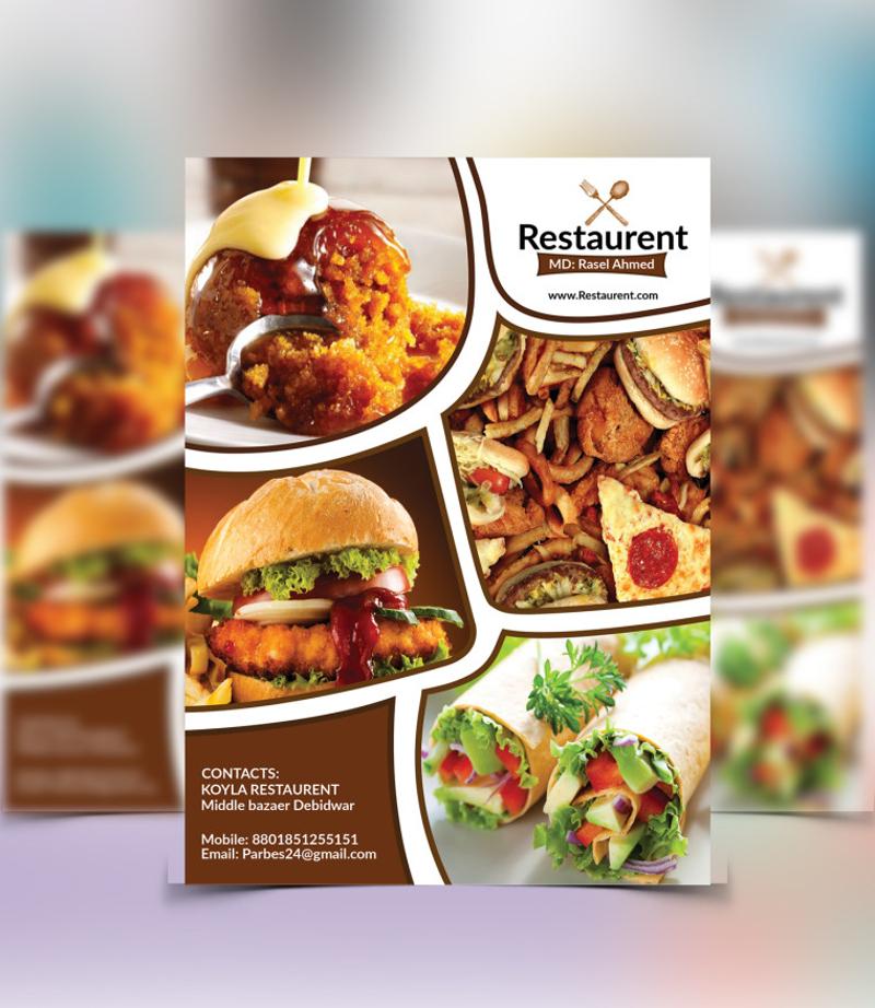 free restaurant flyer