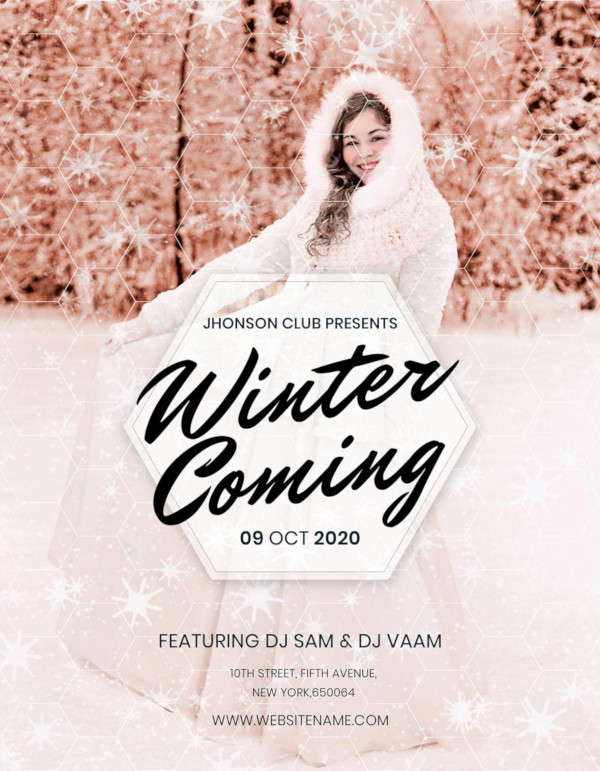 free winter christmas party flyer