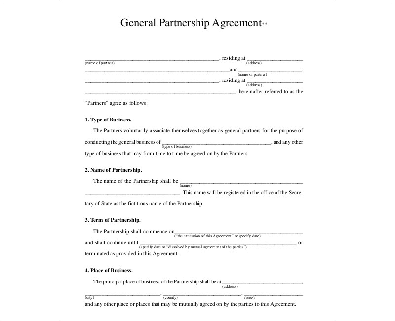 general partnership contract1
