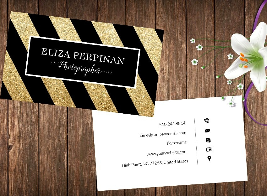 gold style marketing business card