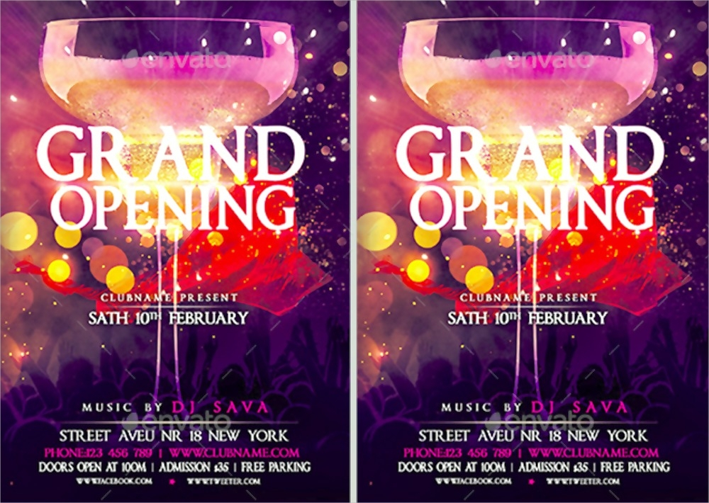 Grand Opening Flyer Designs  Examples  Psd Ai Vector Eps