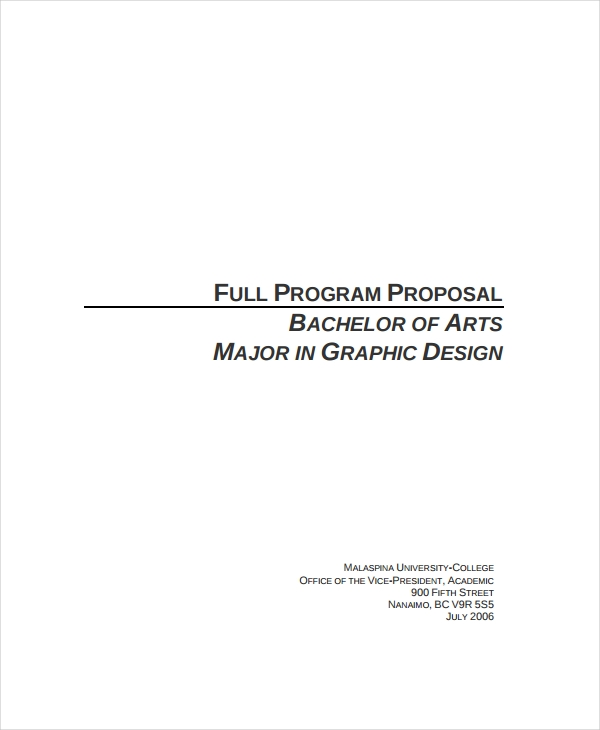 graphic design program proposal