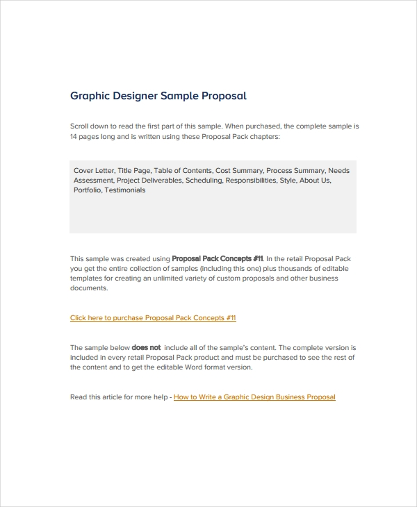 10 Graphic Design Proposal Examples Pdf Doc Pages