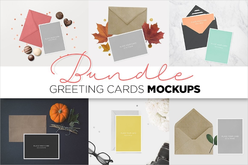 greeting cards mockup bundle