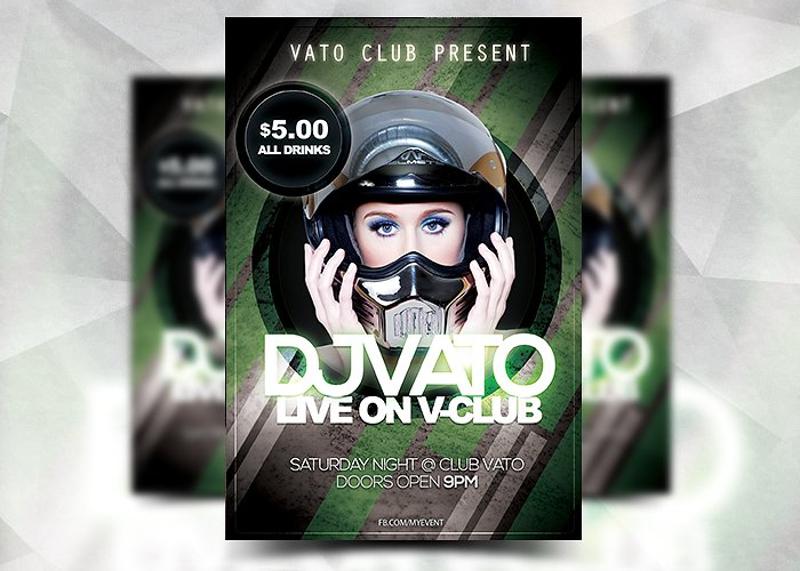 grunge club flyer