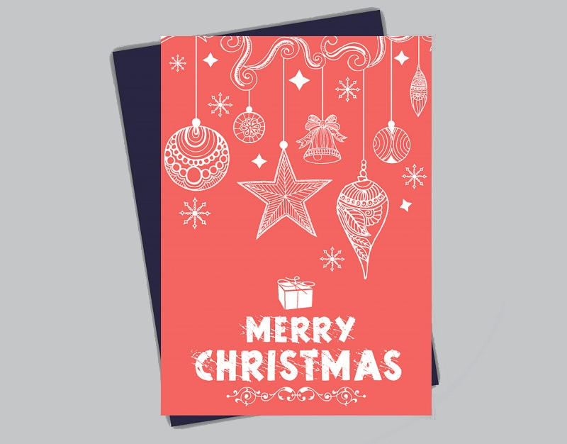 hand drawn christmas brochure