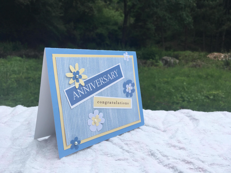 handmade anniversary greeting card1