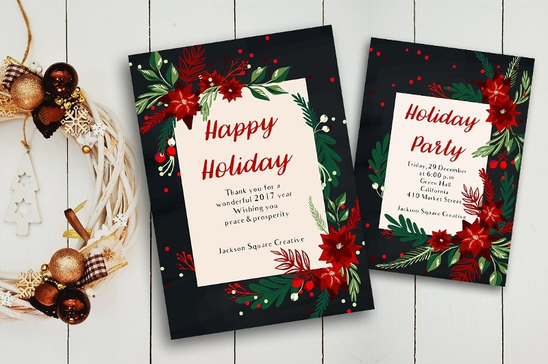 holiday party greeting card