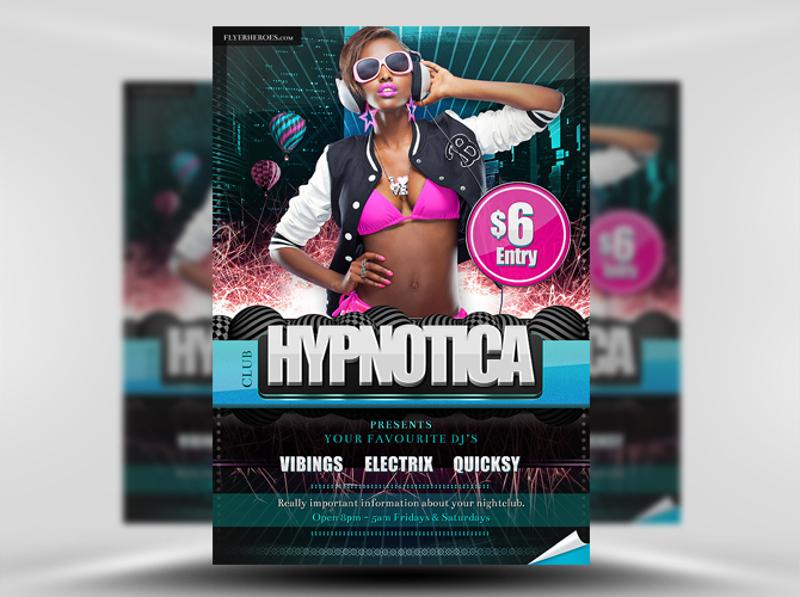 hypnotica free club flyer