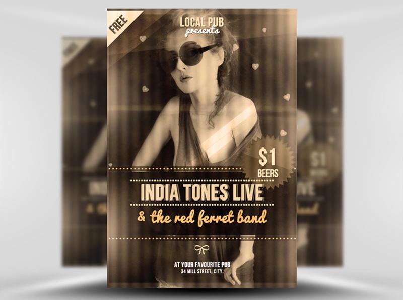 indie club flyer