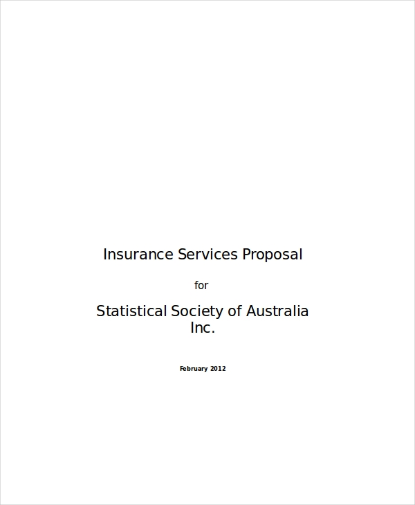 insurance services proposal