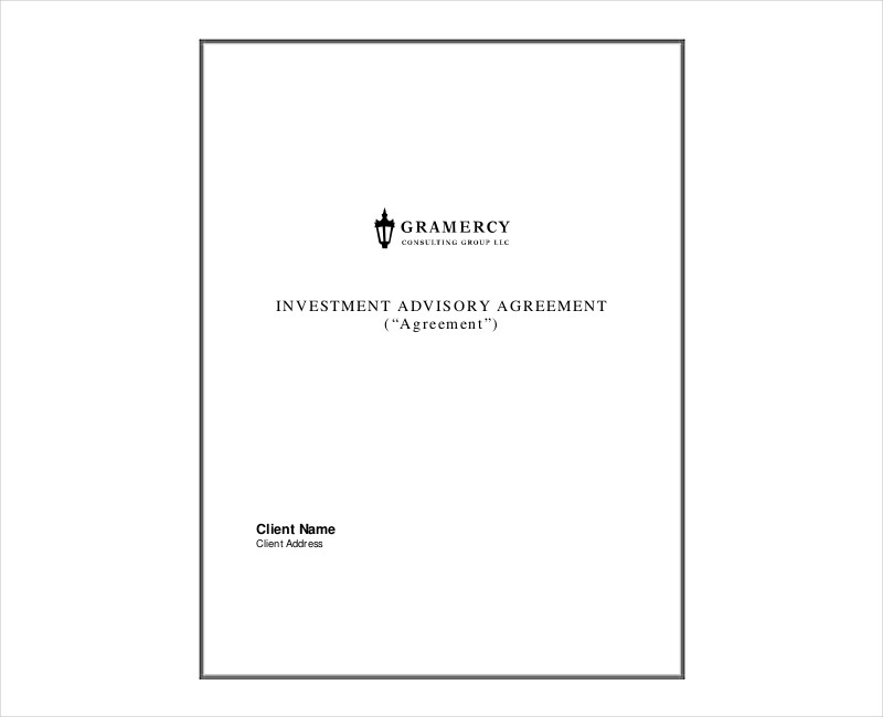 investment advisor firm agreement