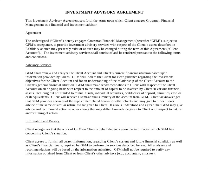 investment advisory contract