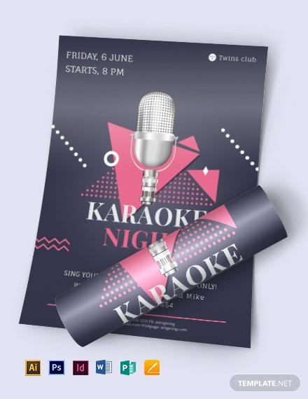 karoake night flyer