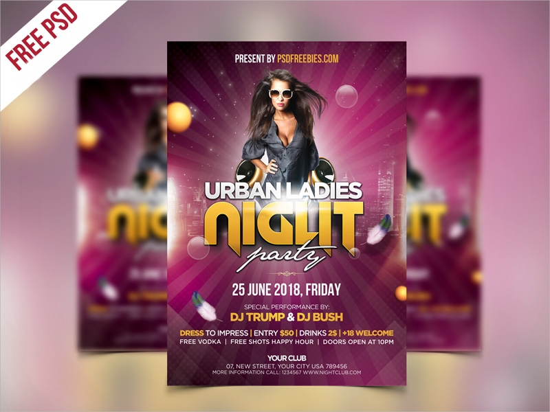 ladies night party flyer