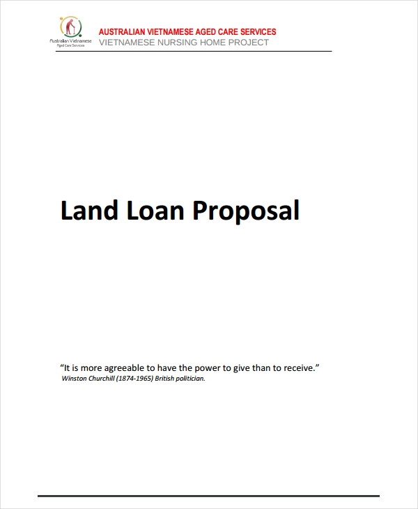 land loan proposal