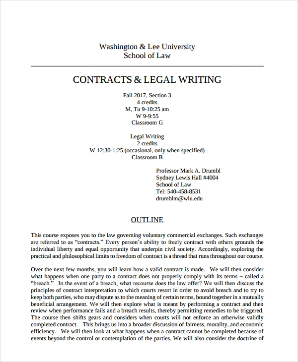 legal writing contracts