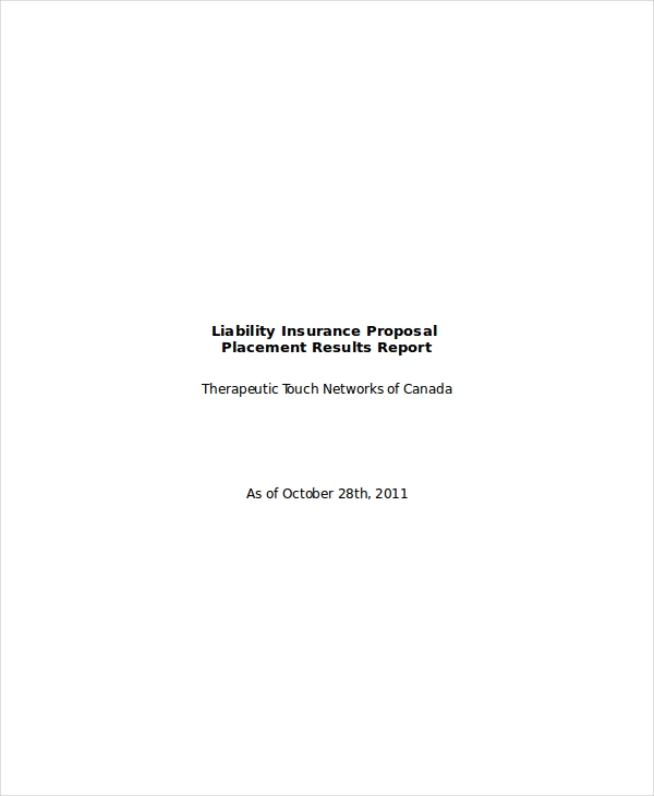 liability insurance proposal