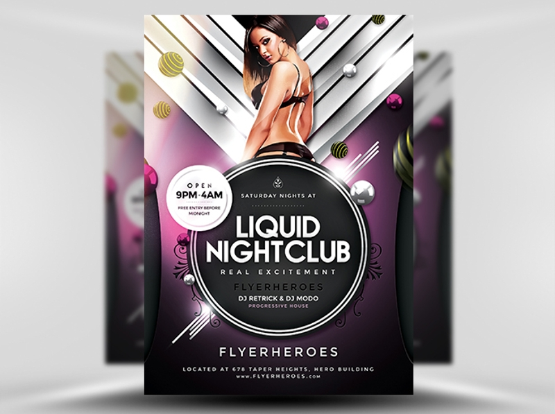liquid nightclub flyer