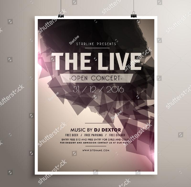 Live Concert Music Flyer