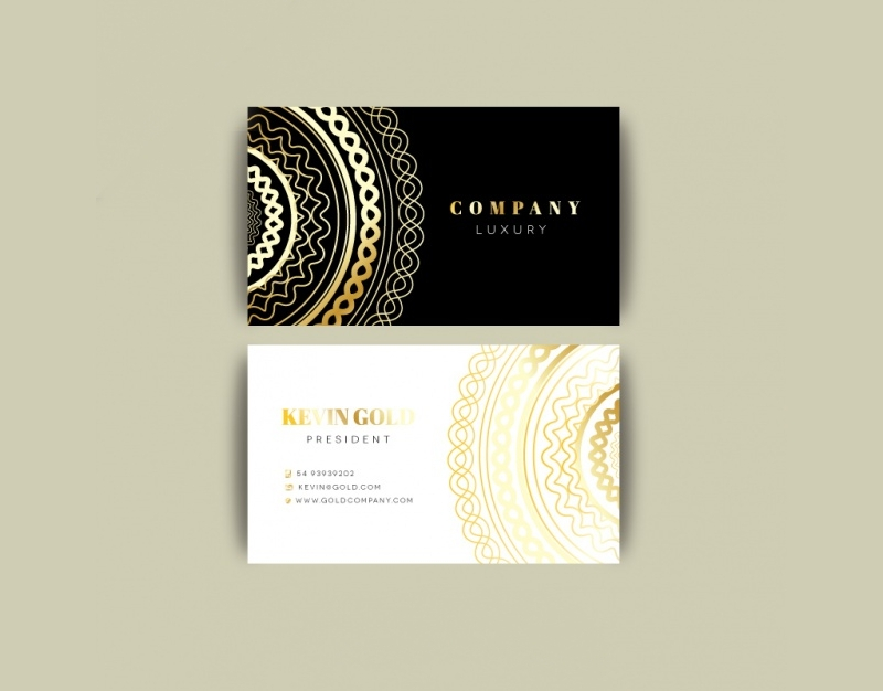 luxury company business card