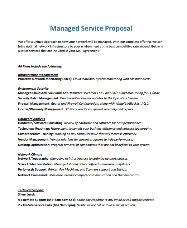 10 services proposal examples samples pdf doc