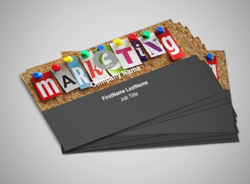 marketing agency business card