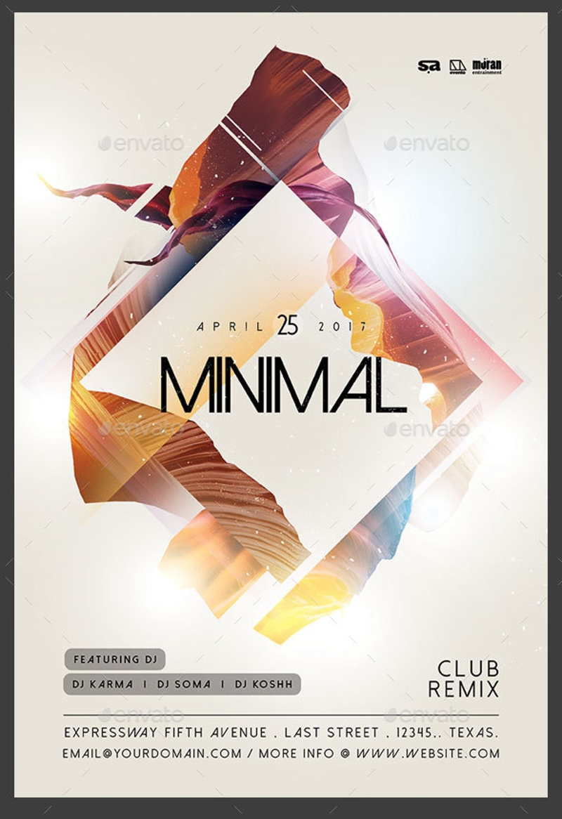 minimal club flyer - Dolap.magnetband.co