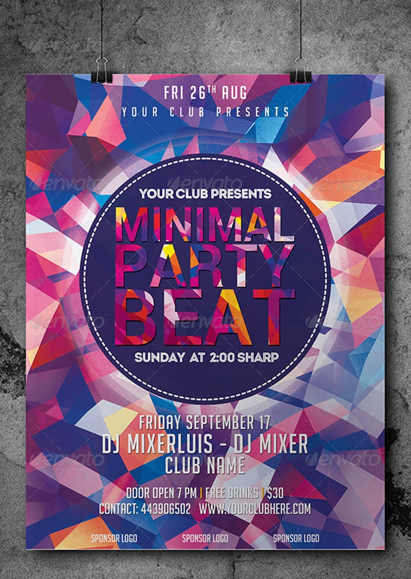 minimal photoshop psd flyer