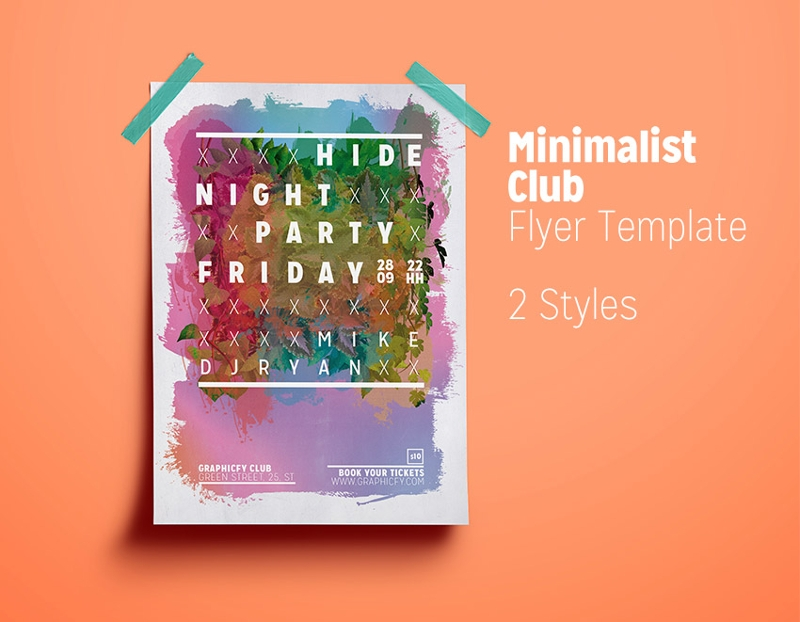 minimalist club flyer
