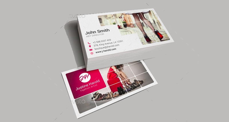 minimalistic fashion business card