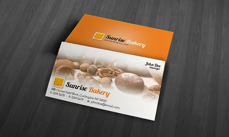 modern bakery business card