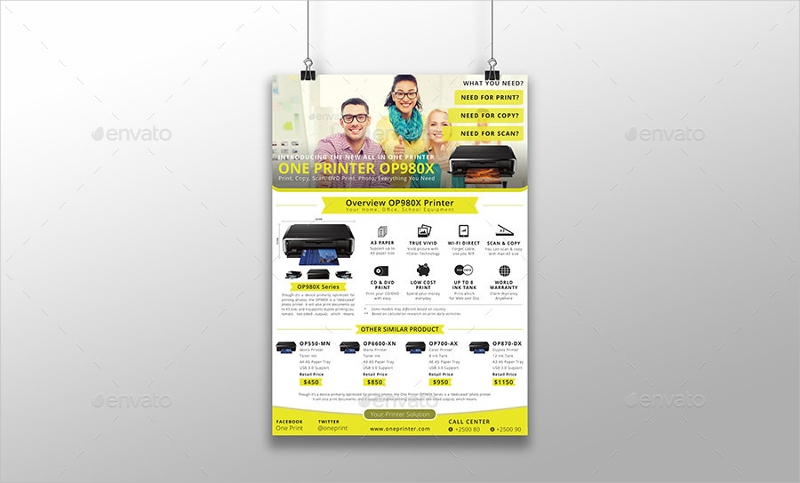 multipurpose product advertisement flyer