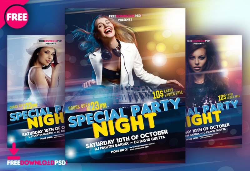 night party flyers