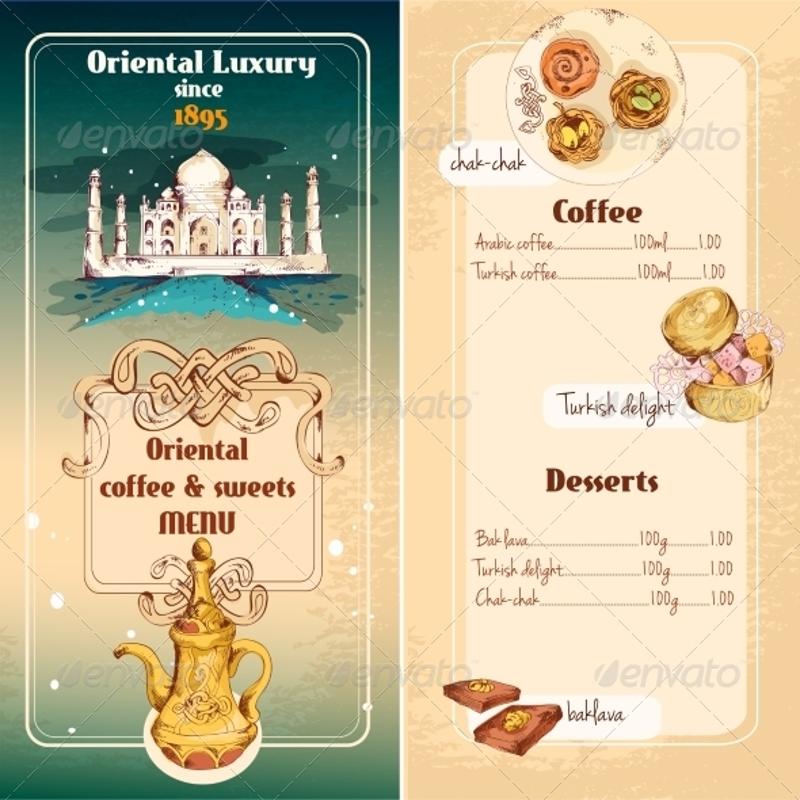 oriental sweets menu