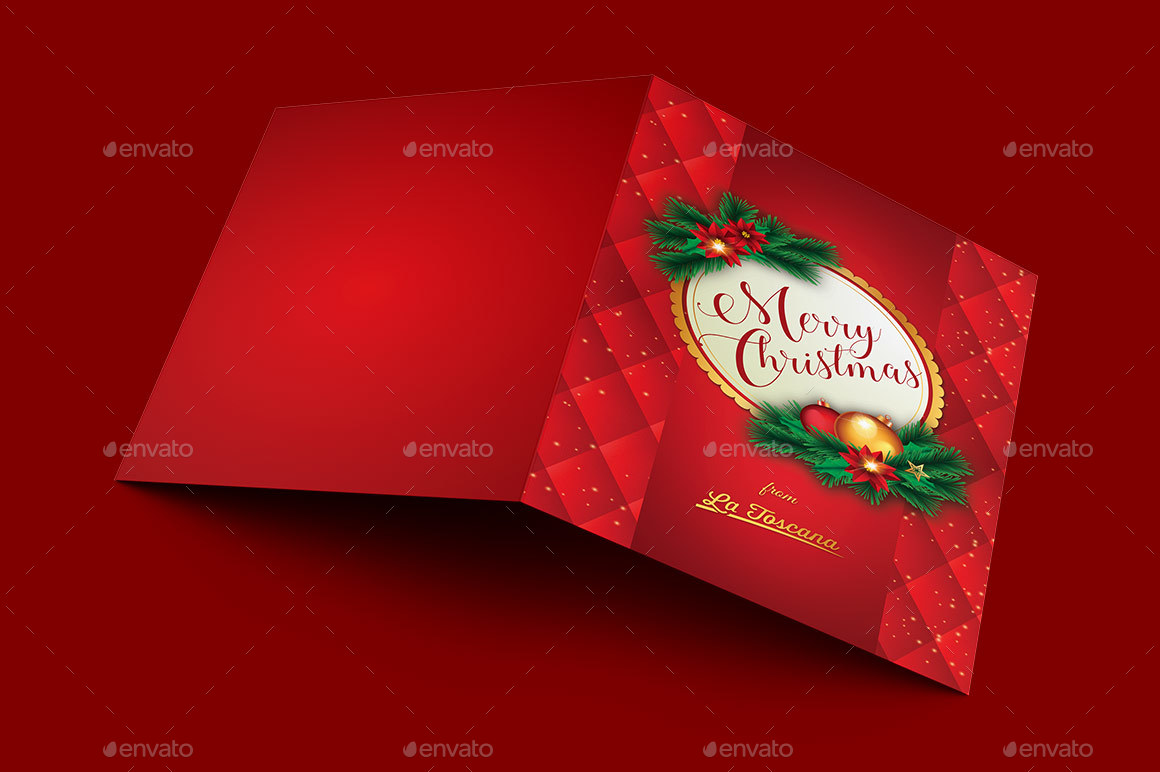 ornament christmas card template template preview 1