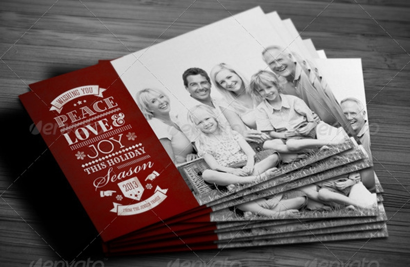 personalized holiday greeting card