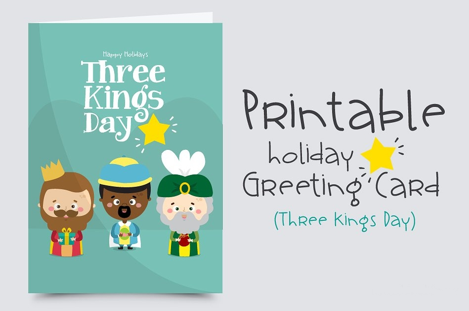 printable holiday greeting card