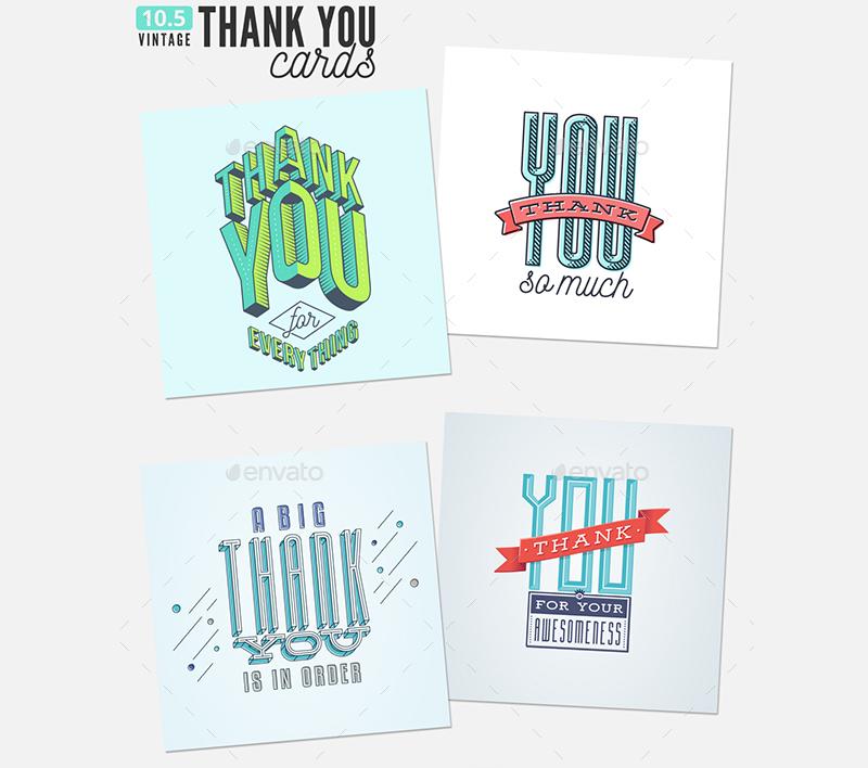Printable Thank You Greeting Cards