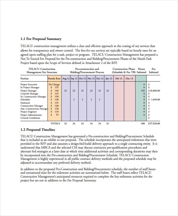 project management proposal