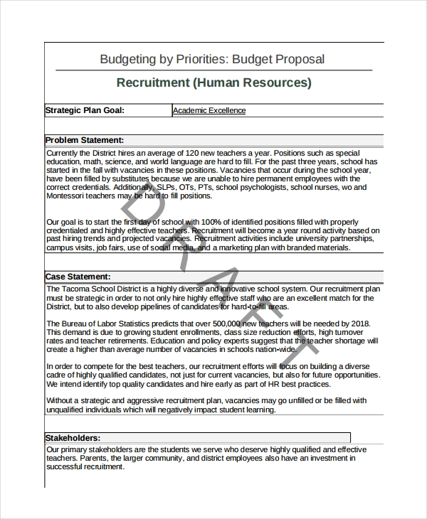 FREE 10+ Recruitment Proposal Examples in PDF | Examples