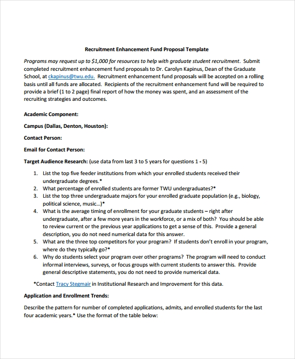 10 Recruitment Proposal Examples Pdf