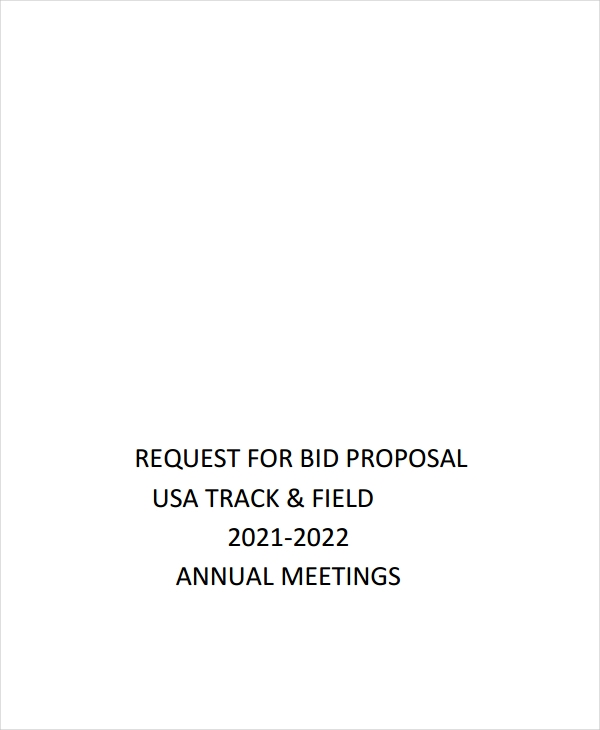 request for bid proposal