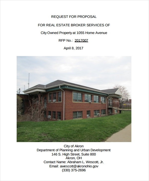 request for real estate proposal